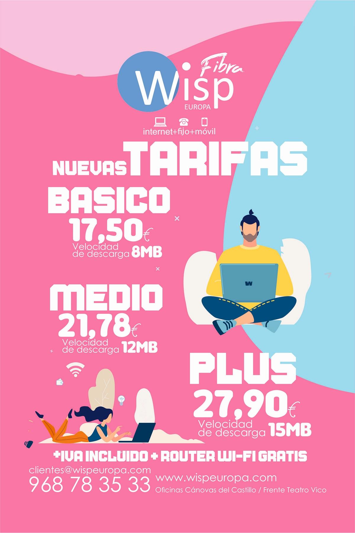 WISP Europa - Tarifas Internet WiMAX 2020